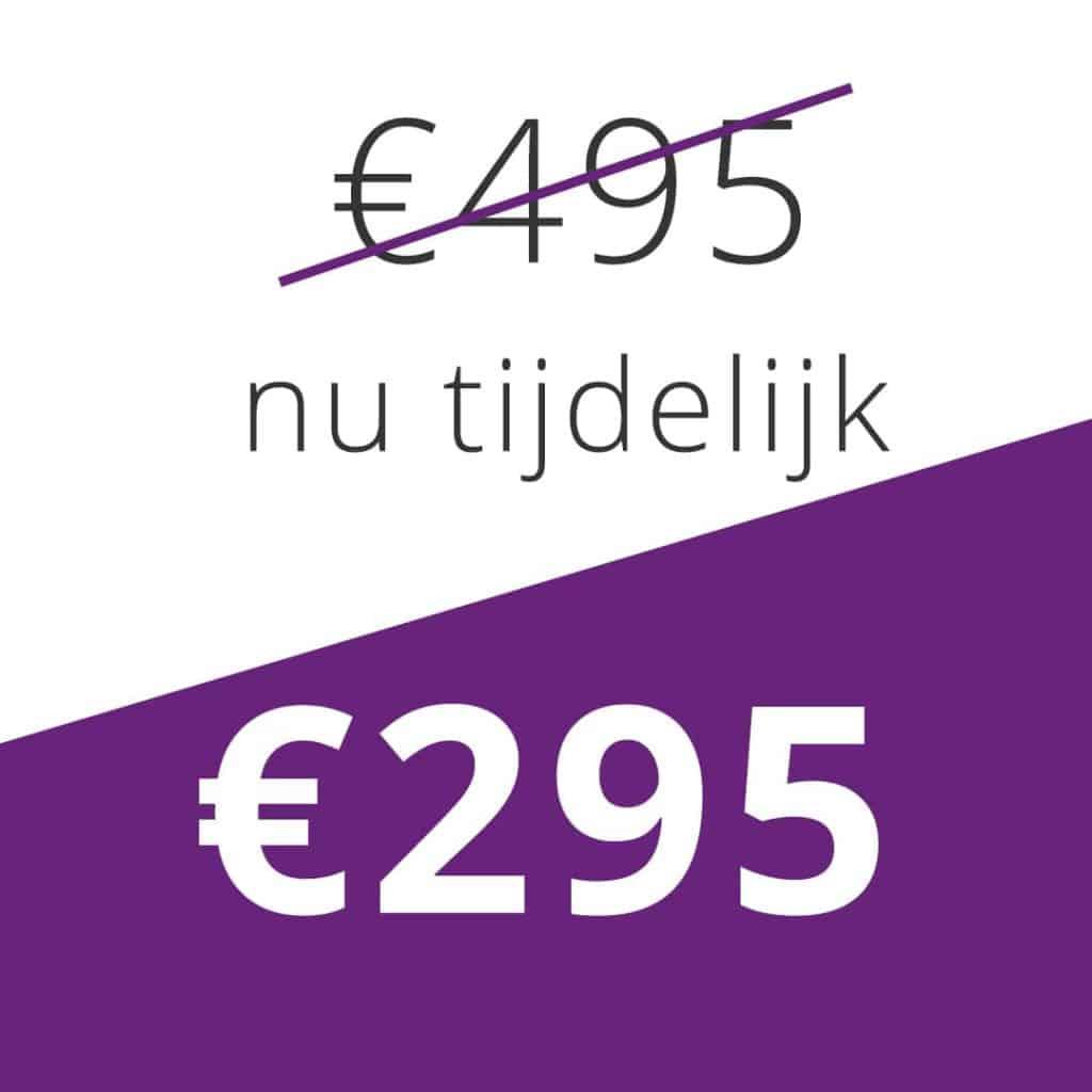 prijs online training persoonlijke ontwikkeling 295 euro